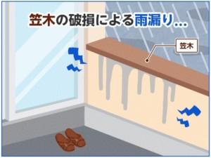 ベランダ 雨漏り 修理