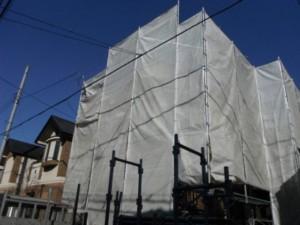 外壁塗装 手順 養生 足場