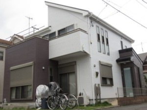 埼玉県上尾市 外壁塗装 シリコン