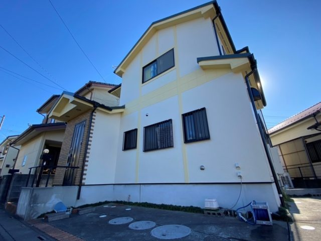 埼玉県鴻巣市 外壁塗装 屋根上葺